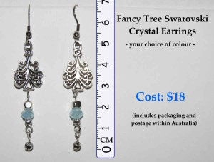 Fancy Tree Swarovski Earrings DetailsSM