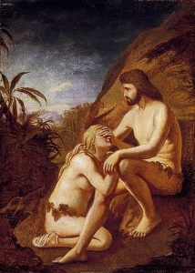 After Adam and Eve sinned, there were cast out of the garden of Eden, and realised their separation from God.